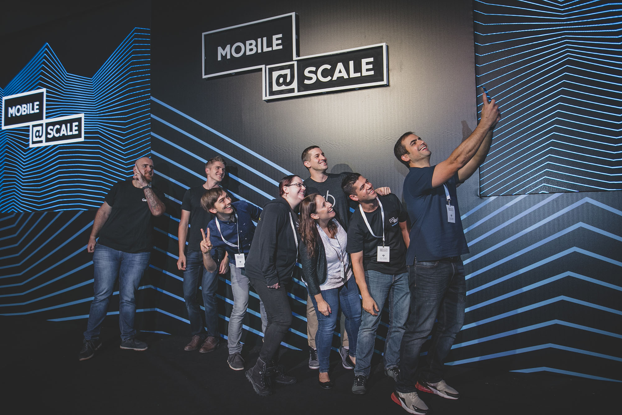Speakers at the first @Scale event in Tel Aviv.