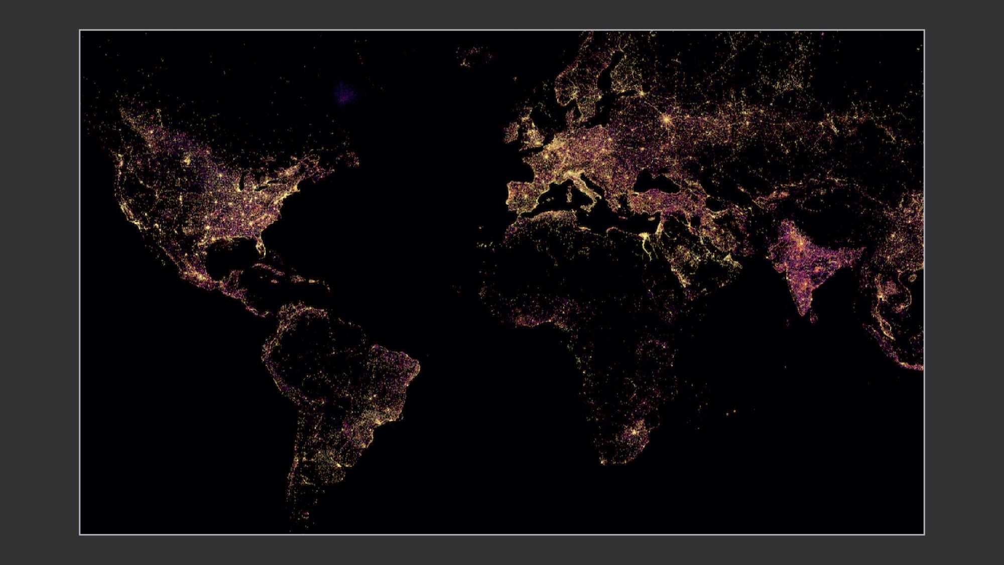 Sample results showing global settlement-level electrification
