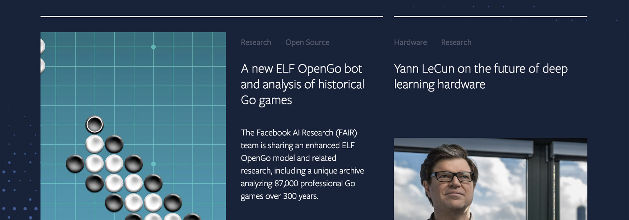 AI blog roundup of posts on Facebook's new AI blog