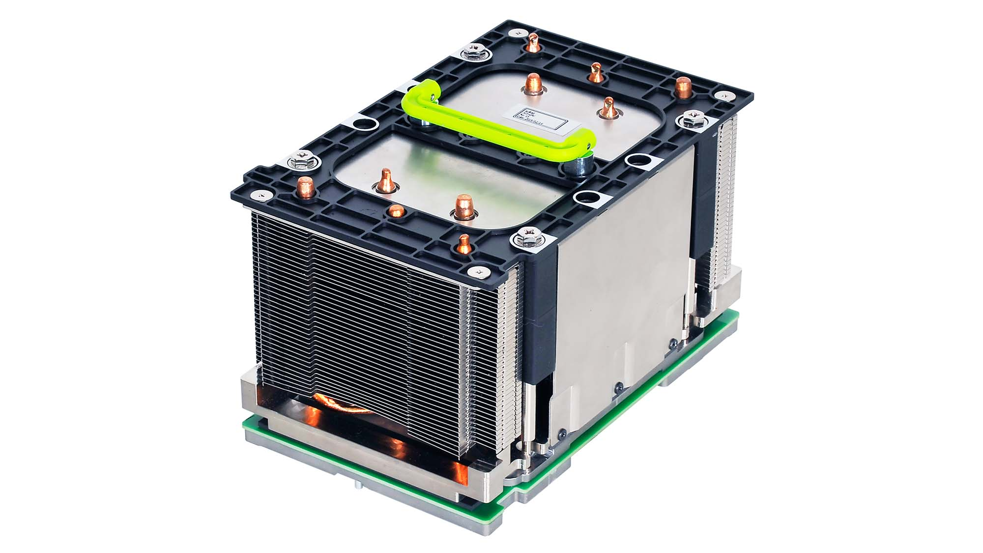 An example of an OAM module with heatsink.