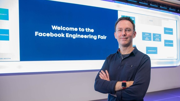Kyle McGinn kicked off the Facebook London Engineering Fair.