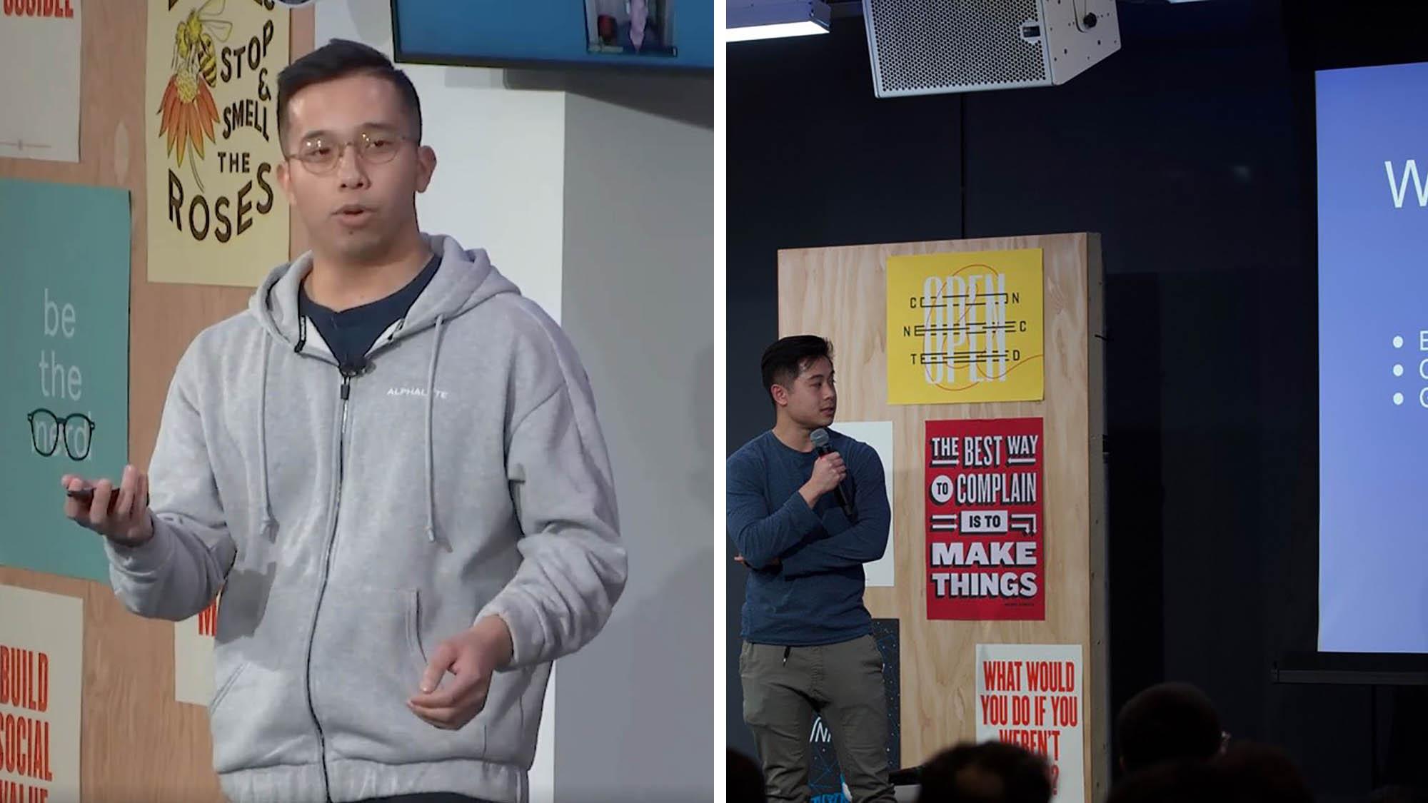Jonathan Wong and John Tran, former students, San José State University