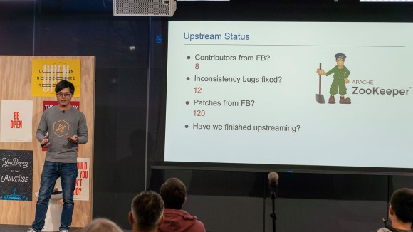 Fangmin Lyu presents at ZooKeeper Meetup@Facebook: Advancing the state of distributed coordination