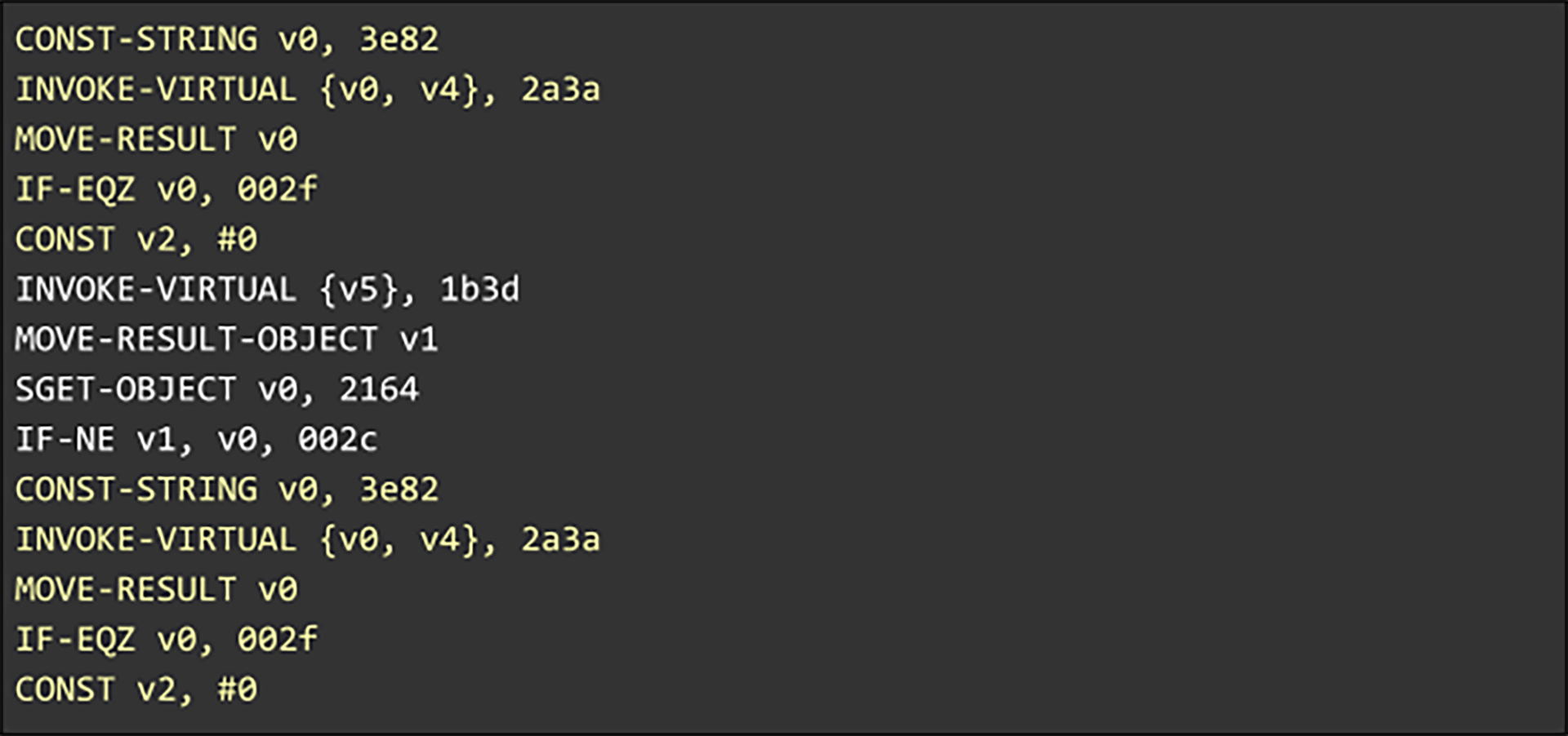 Grouping the code in this manner also further reduces distances by counting the number of logical units between repeating occurrences, as measured along the AST, instead of measuring the number of bytes.